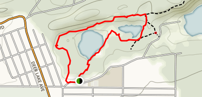 Baby and Little Lake Loop Map