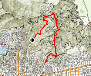 Canyon Road to Trails Cafe via Griffith Observatory Map
