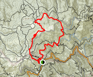 Mountain Top, Arturo, Northside, International and Miner Trail Loop Map