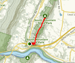 Appalachian Trail: Weverton Heights to Ed Garvey Shelter Map