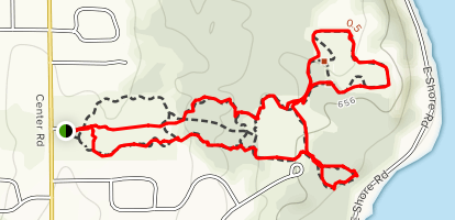 Pelizzari Natural Area Loop Map