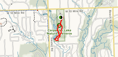 Carpenter Lake Nature Preserve Loop Map