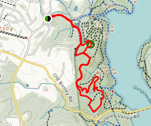 Merryman's Mill Upper Trail and Yellow Trail Loop Map