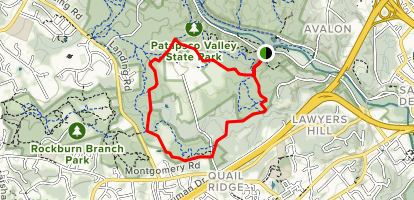 Rockburn Trail to Three Sisters Trail Loop Map