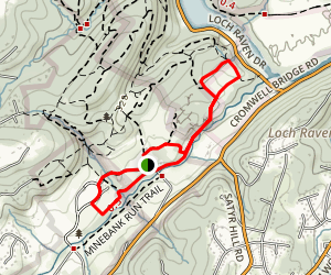 Minebank Run Trail Loop Map