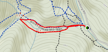 Rocky Stream Bed Trail Loop Map