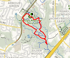 Red, Marsh and Green Trail Loop Map