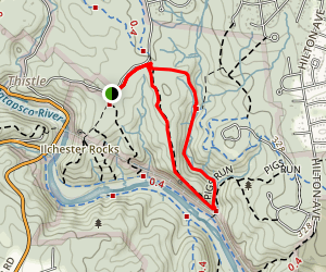 Sawmill Branch Trail to Buzzards Rock Loop Map