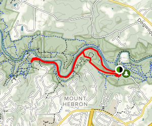 Old Main Line and Daniels Loop Trail Map