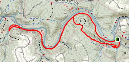 Old Man Line and Daniels Loop Trail Map