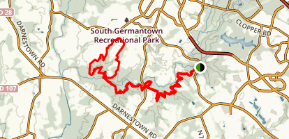 Seneca Ridge Trail to White Loop Map