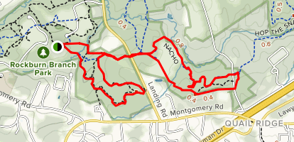 Rockburn, Pain Cave, Belmont and Nacho Trail Loop Map