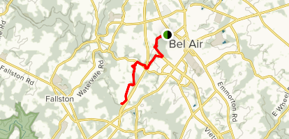 Ma & Pa Trail: Bel Air Section Map