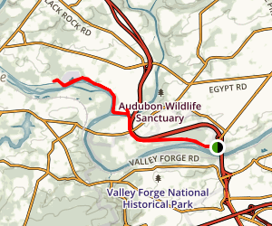 Schuylkill River Trail: Betzwood to Port Providence Map