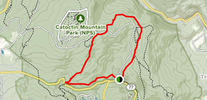 Cunningham Falls to Hog Rock Vista to Blue Ridge Summit Loop Map