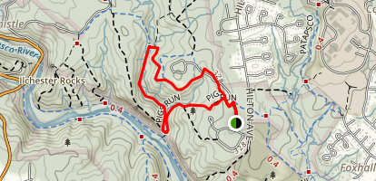 Pig's Run to Santee Branch Trail Map