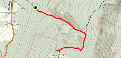Thurston Griggs to Appalachain Trail to Black Rock Map