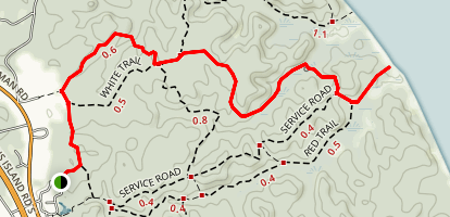 Calvert Cliffs Orange Trail Map