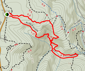 Lawn Mower, Rocky Stream Bed Trail and Kubla Khan Loop Map