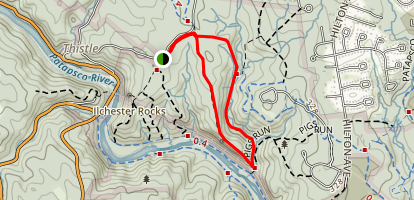 Sawmill Branch and Buzzards Rock Loop  Map