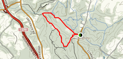 Western Piedmont, Bennett Ridge and Beaver Valley Trail Loop Map