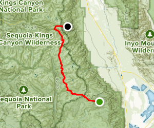 Cottonwood Pass Trail: Horseshoe Meadows to Onion Valley Map