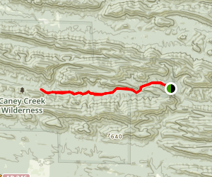 East Caney Creek Trail Map