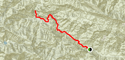 Manzanita Creek Trail to Dabney Cabin Map