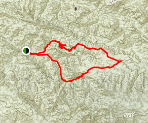 Manzana Creek and Eastern Hurricane Deck Loop Map