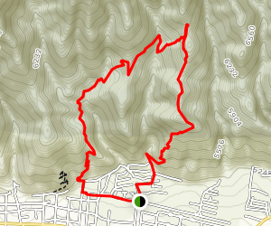 Agave Ridge Trail, Tortilla Rock, Turtle Pond, and Levi's Ridge Loop Map