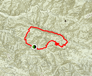Hurricane Deck Loop: Lost Valley to Potrero Canyon Map