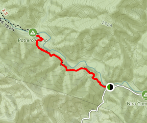 Manzana Trail To Potrero Camp Map