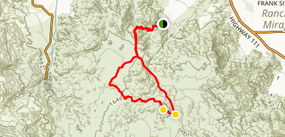Cathedral Canyon Mountain Bike Ride Map