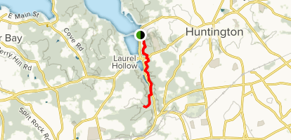 Nassau-Suffolk Trail: Cold Spring Harbor to Uplands Farm Sanctuary  Map