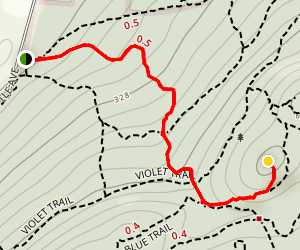 Red Circle Trail to Stone House Map