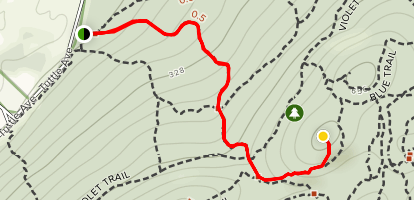 Red Circle Trail to Stone House [CLOSED] Map