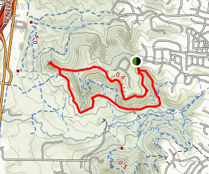Pulpit Rock via Rockhurst Blvd Loop Map