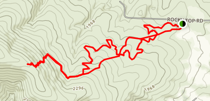 Rocky Top to Cowiche Mountain Map