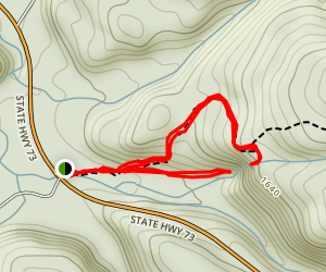 Roaring Brook Falls Upper and Lower Lookout Map