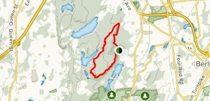 Blue/Red Blazed Ragged Mountain Loop Map