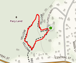 Pacy Yellow Trail Map