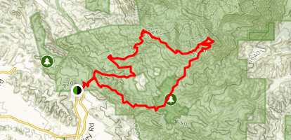 Stage Road to Mount Diablo Summit Map