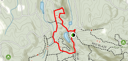 Yellow Trail to White Trail Loop Map