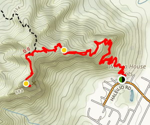 Sleeping Giant Via Nounou Mountain Trail Map