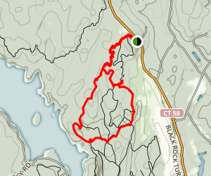 Red Trail to Red/White Trail Loop Map