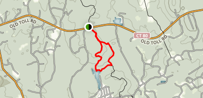 Timberline White Trail and Menukatuck Trail Map