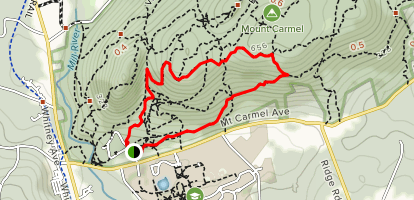 White Trail to Yellow Trail Loop [CLOSED] Map