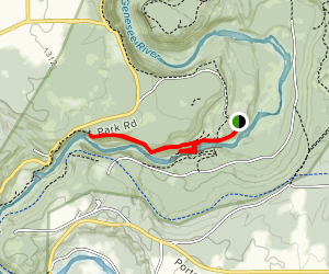 Lower Falls and Gorge Trail Map