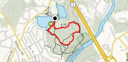 Beaver Pond to Green and Yellow Loop Map