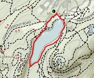Mohonk Lake via Undercliff and Lakeshore Path Map